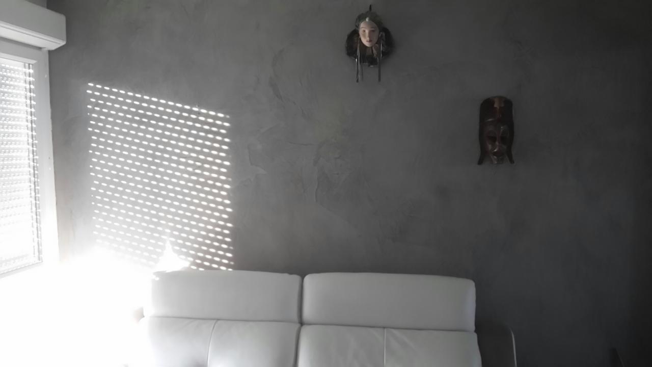 Mur résine aspect béton