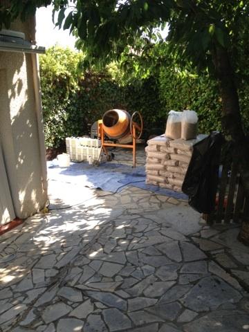 Tapis de marbre entrée de garage avant