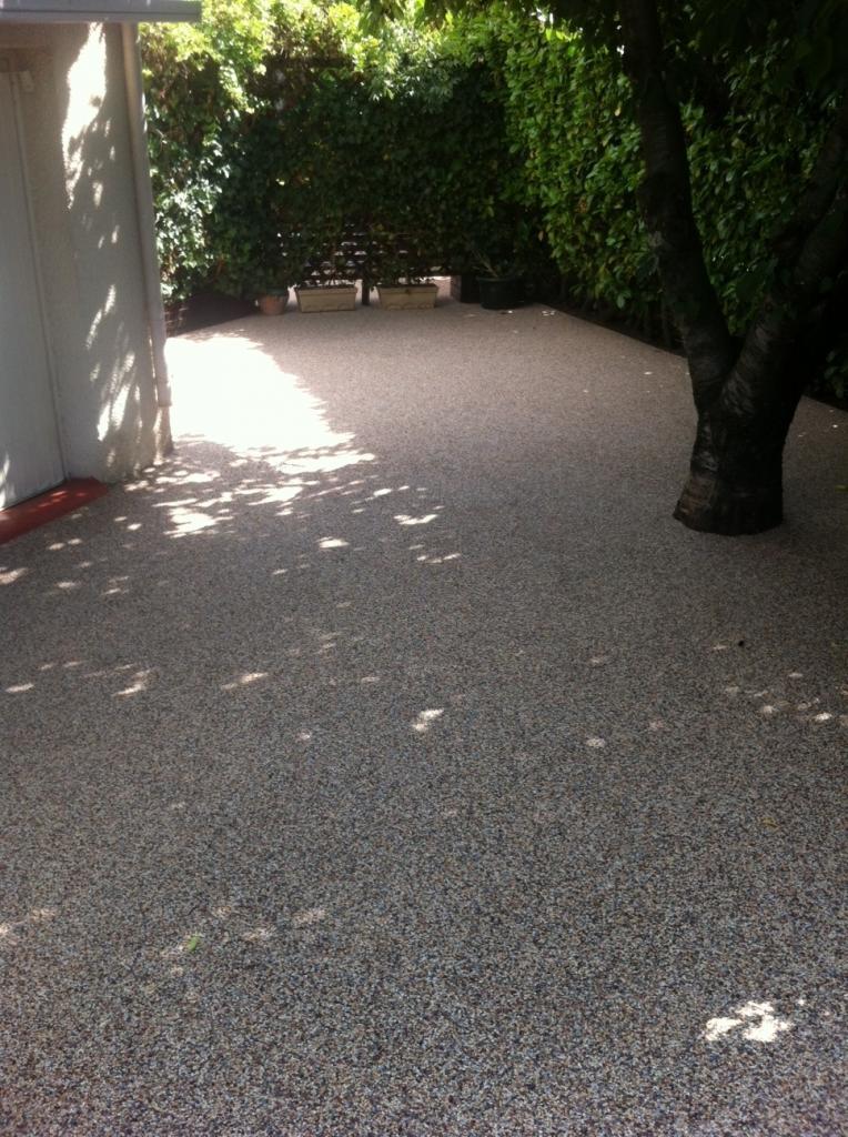 Tapis de marbre entrée de garage après